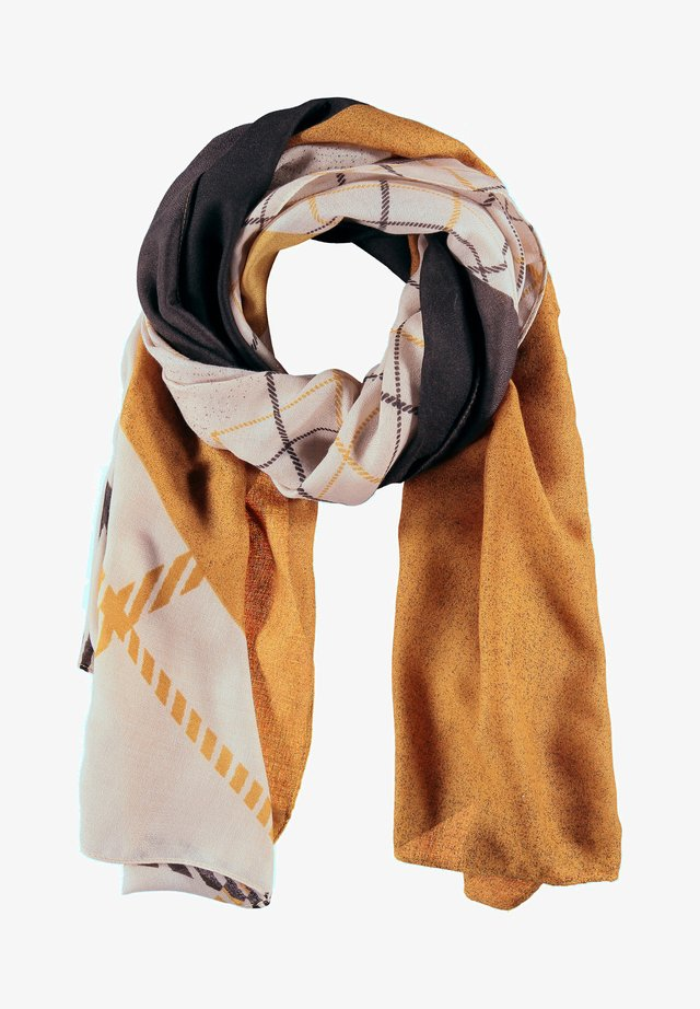 MIT PATCHMUSTER - Scarf - ivory/ honey/ chocolate