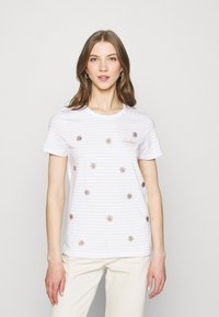 ONLY - ONLKITA LIFE BOX  - Print T-shirt - bright white/sunshine/pumice stone - 0