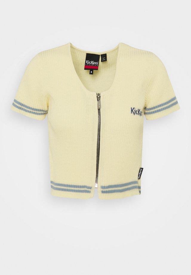 ZIPPERTOP - Stickad tröja - cream