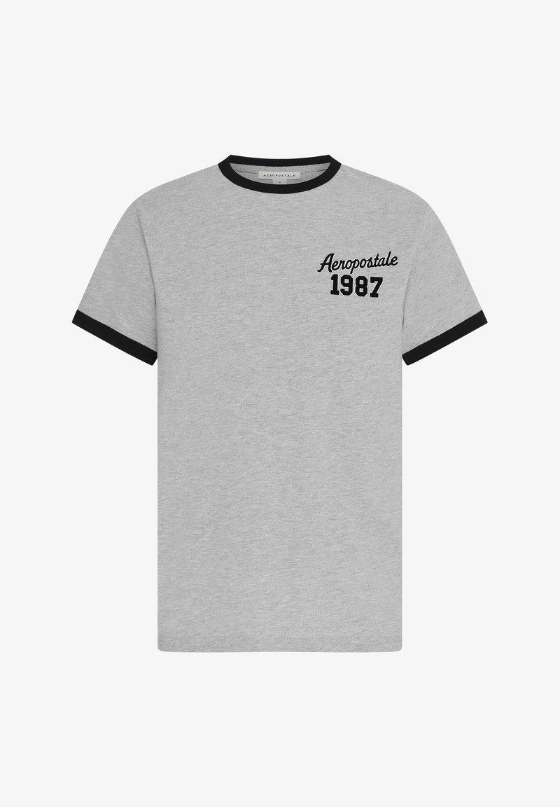 AÉROPOSTALE - RINGER - Print T-shirt - grey