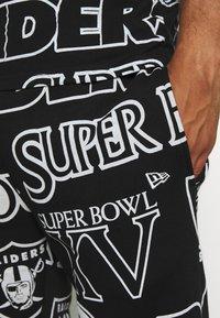 New Era - NFL  RAIDERS JOGGER OAKLAND RAIDERS - Klubové oblečení - black - 4