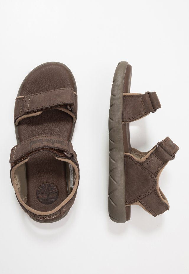 NUBBLE - Walking sandals - dark brown