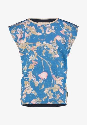 Print T-shirt - multicolor blue