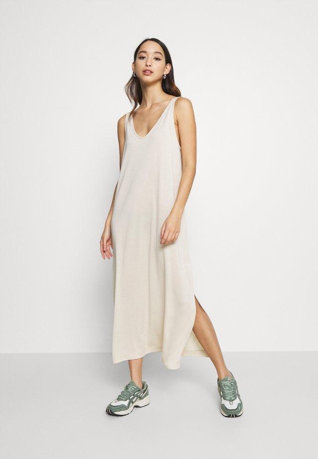 ABBY DRESS - Długa sukienka - light beige