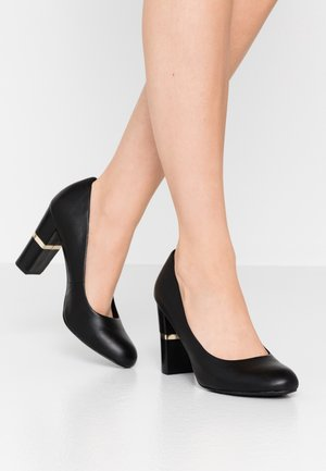 LEATHER PUMPS - Szpilki - black