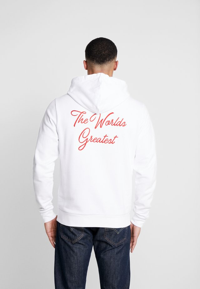 FIGHT HOODIE - Jersey con capucha - white