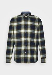 Marc O'Polo - KENT COLLAR LONG SLEEVE CHEST - Skjorta - multi/ivy green - 4