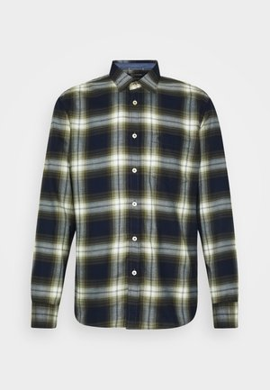 KENT COLLAR LONG SLEEVE CHEST - Shirt - multi/ivy green