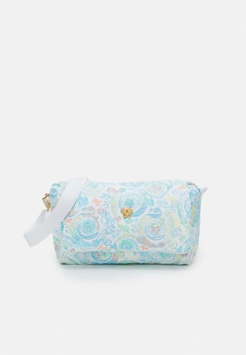 BAG FABRIC - Baby changing bag - light blue/multicolor/gold
