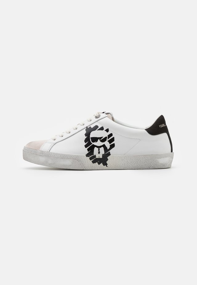 SKOOL IKONIC STENCIL  - Sneaker low - white