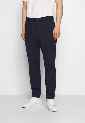 MENS ELASTICATED WAIST TROUSER - Trousers - navy