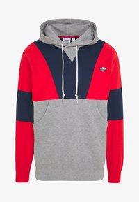 adidas Originals - HOODY - Bluza z kapturem - red/mottled grey/dark blue - 3