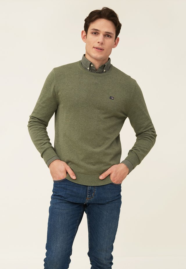 BRADLEY - Stickad tröja - green melange
