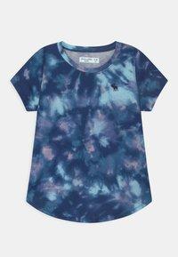 Abercrombie & Fitch - JAN CORE CREW  - Print T-shirt - blue - 0
