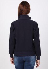 Basics and More - Zip-up sweatshirt - dark blue - 1