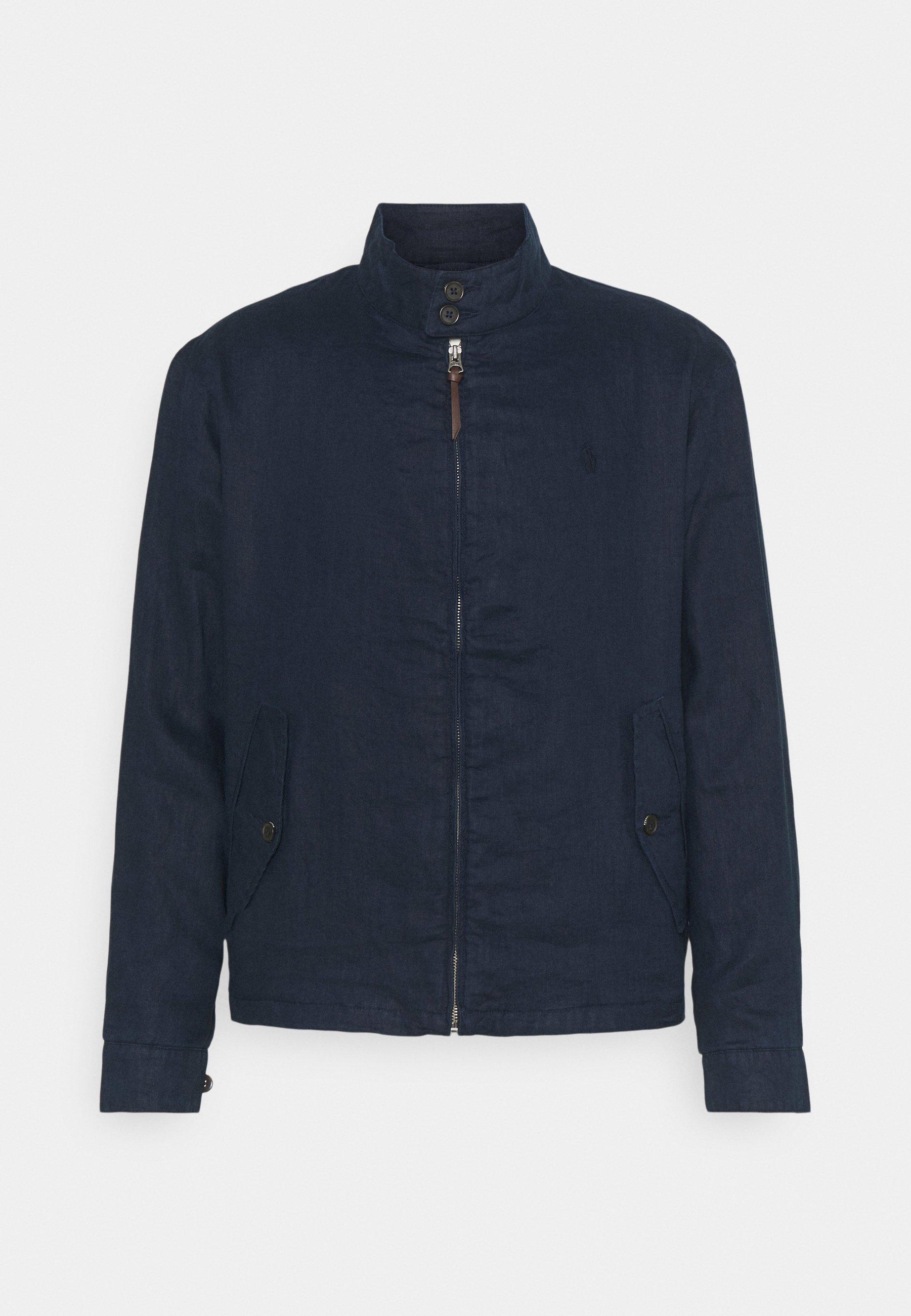 Men LINEN MOCKNECK JACKET - Summer jacket