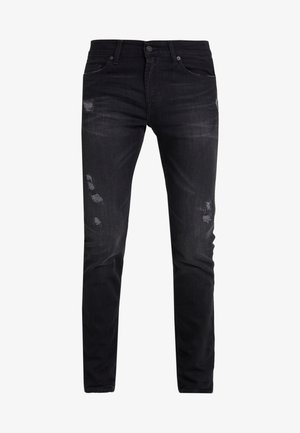 RONNIE RODEZ DISTRESSED - Slim fit jeans - black