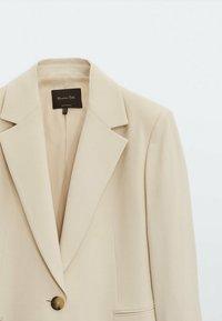 Massimo Dutti - Krótki płaszcz - beige - 2