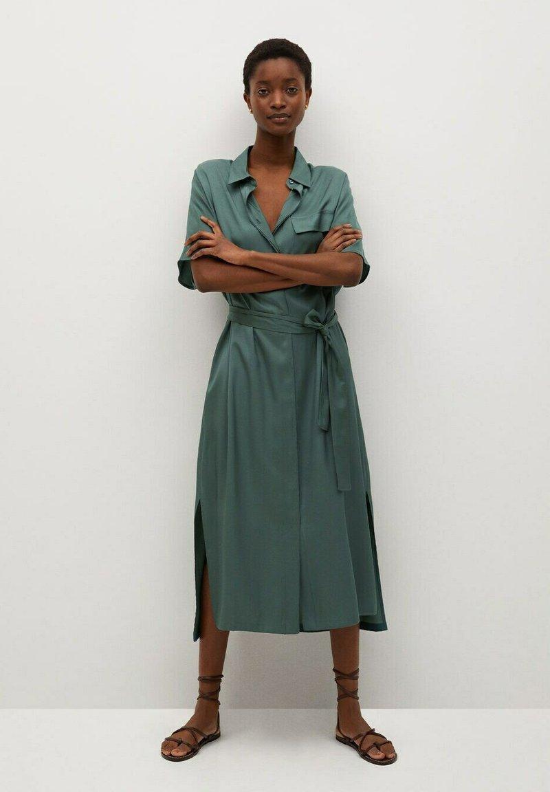 Mango - Košilové šaty - groen