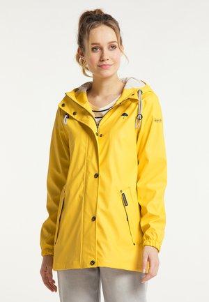 Waterproof jacket - blassgelb