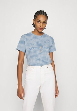 CLASSIC TEE - Triko s potiskem - mermaid beach/washed blue