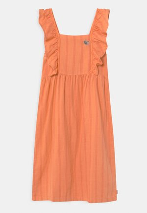 TINY FLOWERS - Day dress - coral