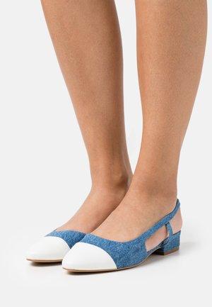 CORALLINA - Ankle strap ballet pumps - blue denim