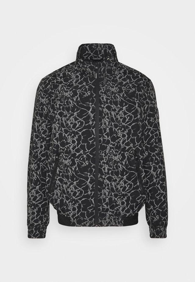 REFLECTIVE PRINT BLOUSON - Summer jacket - black