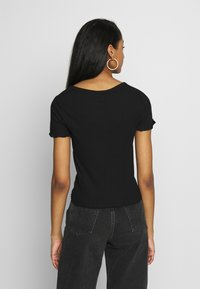 New Look - VARI BUTTON TEE - T-Shirt print - black - 2