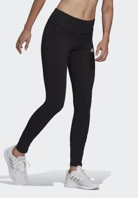 adidas Performance - LIN LEG - Leggings - black/white - 2
