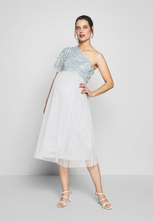 ONE SHOULDER DELICATE  MIDI DRESS - Vestido informal - ice blue