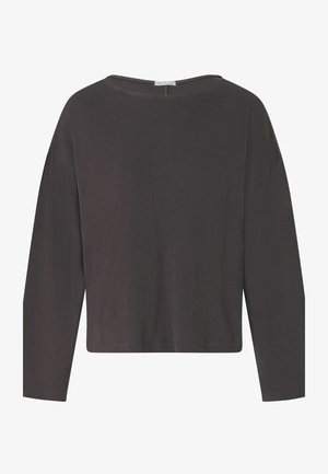 LONG-SLEEVED WITH ROUND NECK - Pyjama top - anthracite