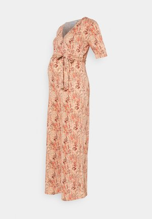 PCMDUNA CROPPED JUMPSUIT - Mono - coral/different flowers
