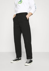 Carhartt WIP - WESLEY PANT NEWCOMB - Džíny Relaxed Fit - black - 0