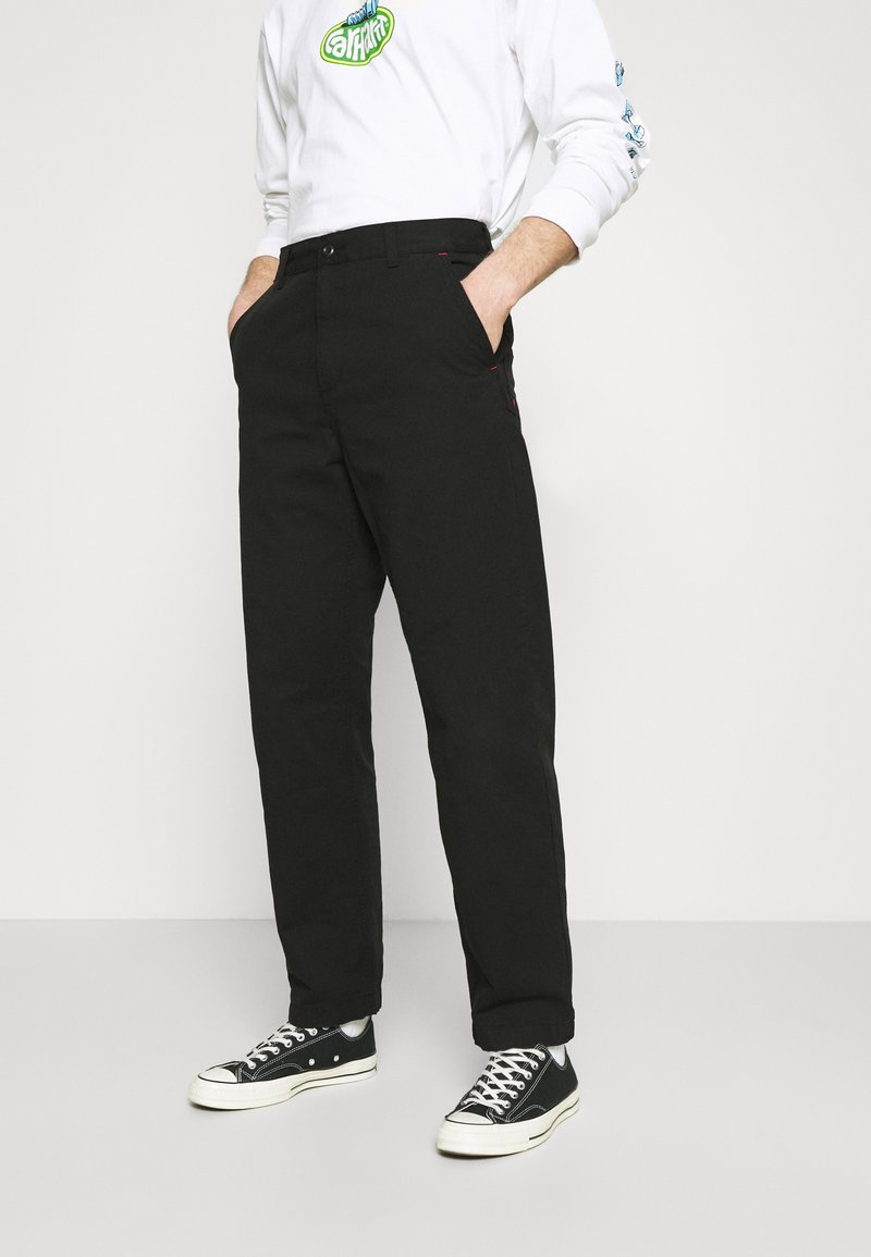 Carhartt WIP - WESLEY PANT NEWCOMB - Džíny Relaxed Fit - black