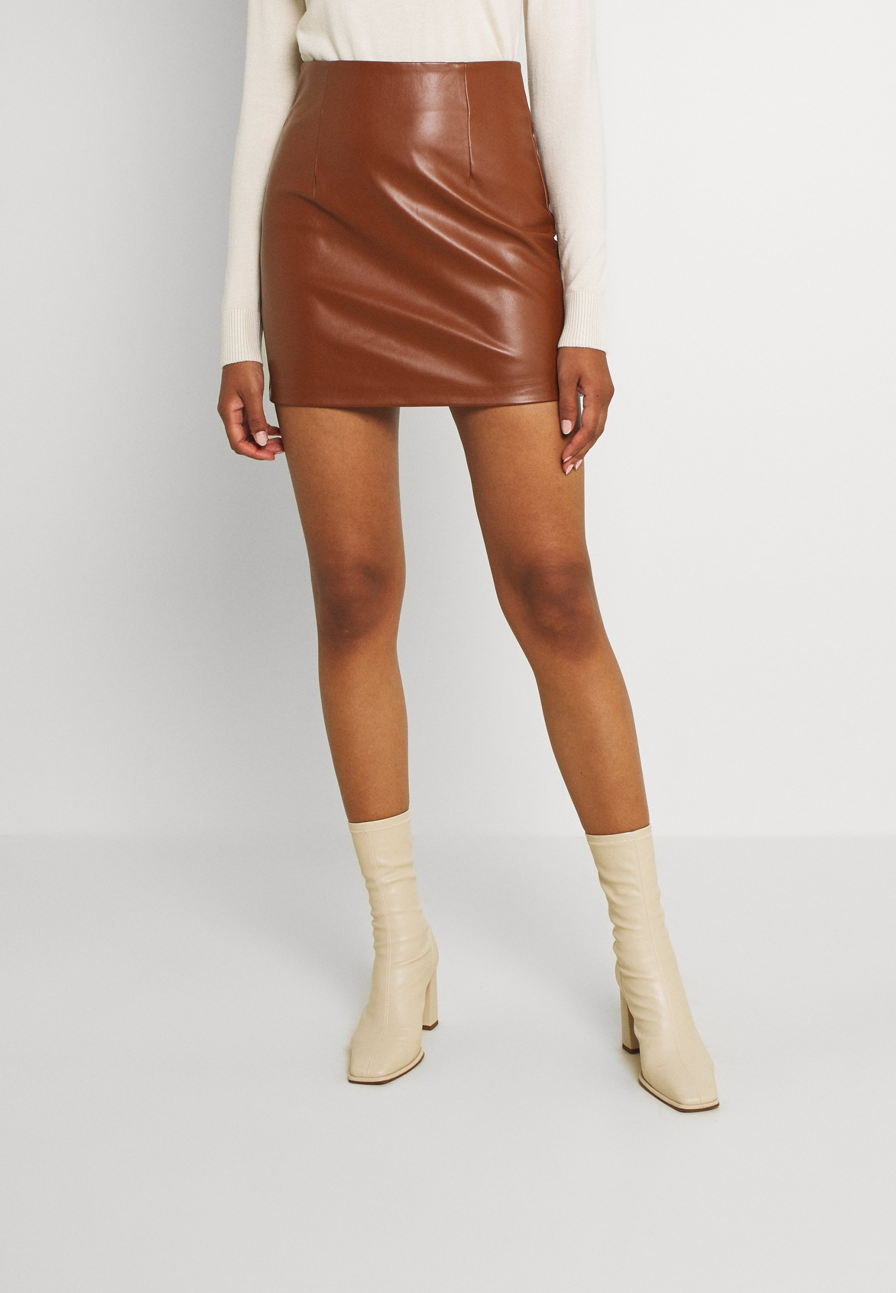 Women VIKASI COATED SHORT SKIRT - Mini skirt