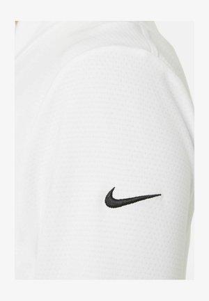 Zip-up hoodie - white/black