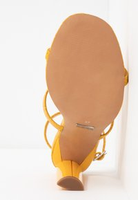 Topshop Wide Fit - WIDE FIT RIVER STRAPPY BLOCK - High heeled sandals - yellow - 6