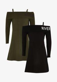River Island - Korte jurk - black - 0