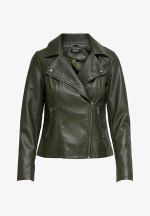 ONLMELISA BIKER - Faux leather jacket - rosin