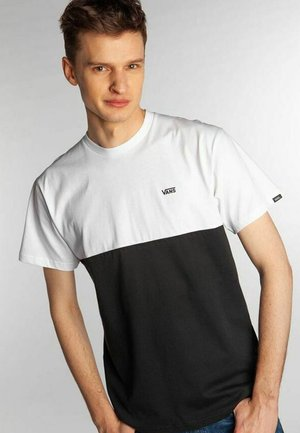 MN COLORBLOCK TEE - T-shirt med print - white
