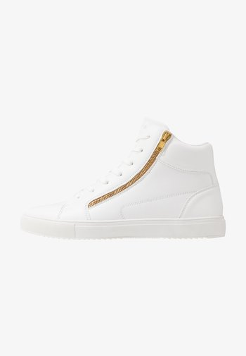UNISEX - High-top trainers - white/gold-coloured