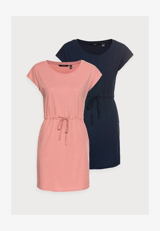 VMAPRIL SHORT DRESS 2 PACK - Jerseykjole - navy blazer/old rose