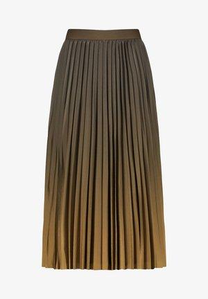 Pleated skirt - olive poison druck