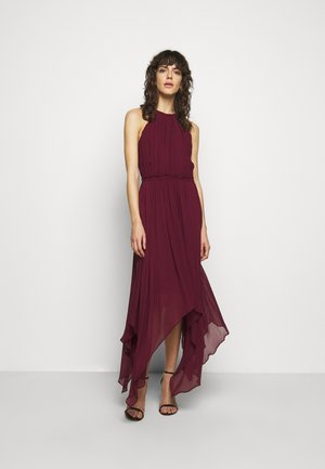 PLEATED HALTER - Maxi šaty - dark ruby
