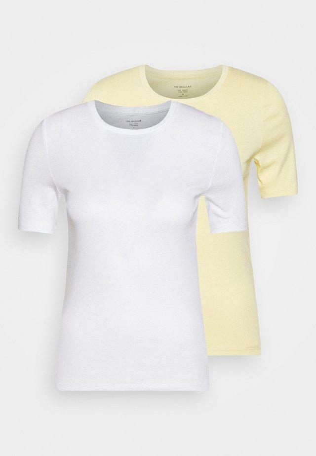 2 PACK - T-shirt z nadrukiem - yellow