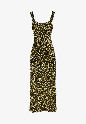 DITSY RUFFLE STRAP DRESS - Vestito lungo - black