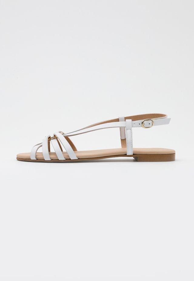 LEATHER - Sandalias - white