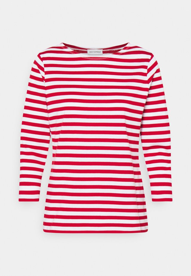ILMA - Long sleeved top - white/red