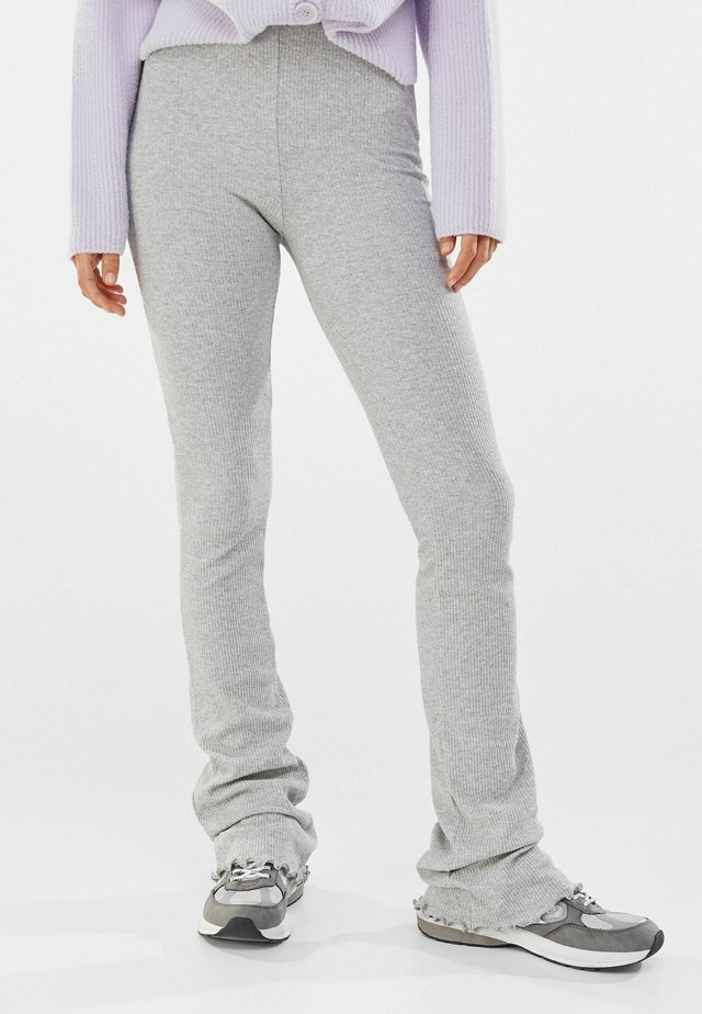 MIT PATENTMUSTER  - Pantalon classique - light grey